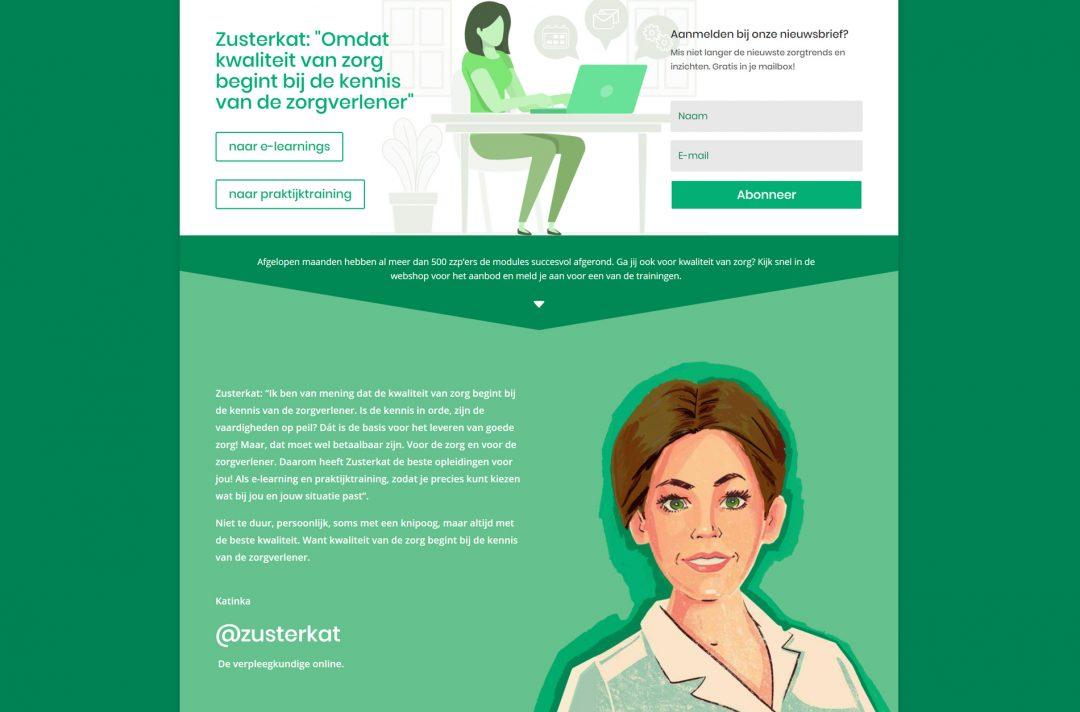 Zusterkat webdesign